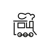 Locomotive line icon