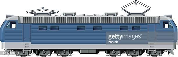 locomotive - rail freight stock illustrations, clip art, cartoons, & icons