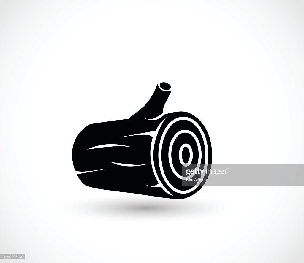 Log icon vector illustration