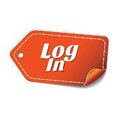 log In Orange Vector Icon Design