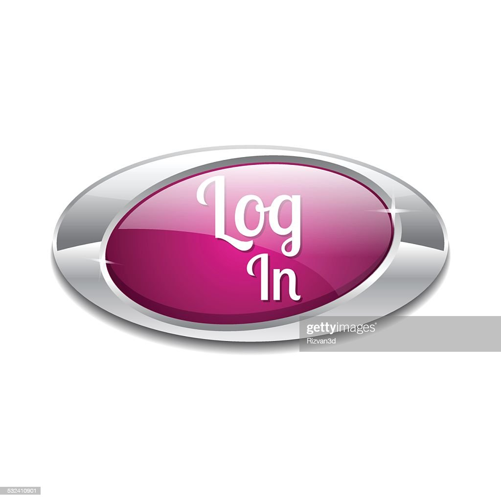 log In Pink Vector Icon Button