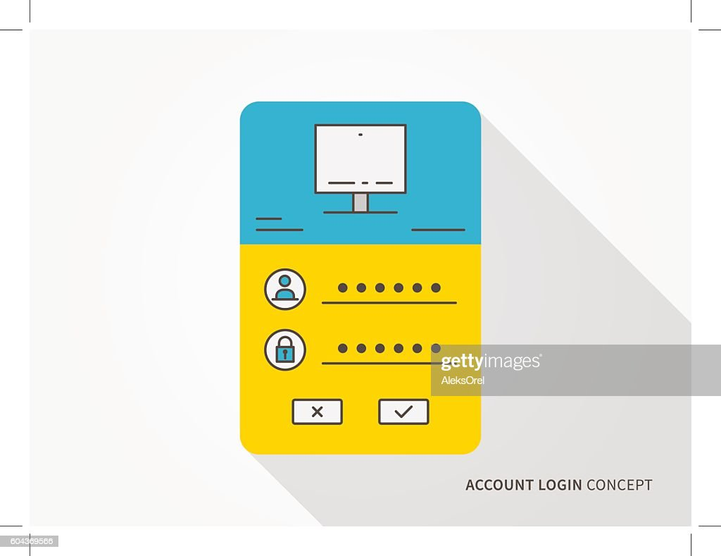 Login access webpage vector illustration