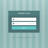 Login box form ui interface element, signin screen