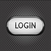 Login button on metal perforated background