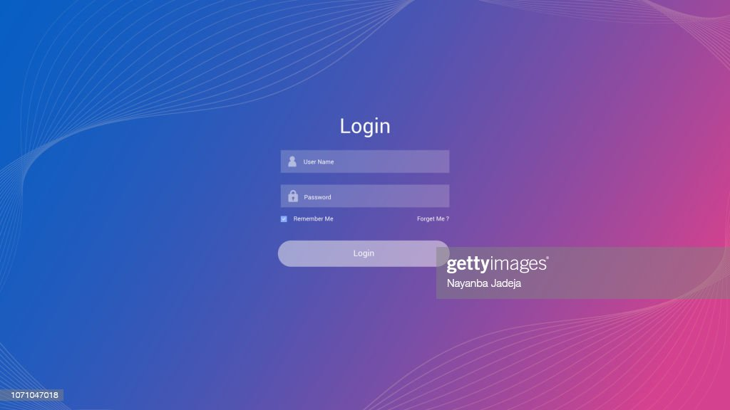 ログイン フォーム ユーザー インターフェイス ベクトル : ストックイラストレーション