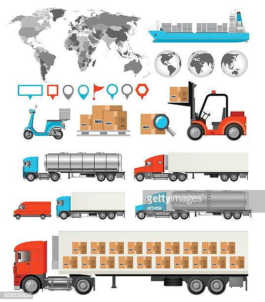 Logistic and Transport  Infographic