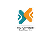 logistic delivery courier service logo. money finance connection concept design. abstract arrow symbol