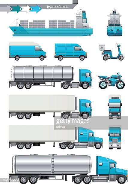 logistic elements - rail freight stock illustrations, clip art, cartoons, & icons