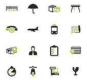 Logistic icons set