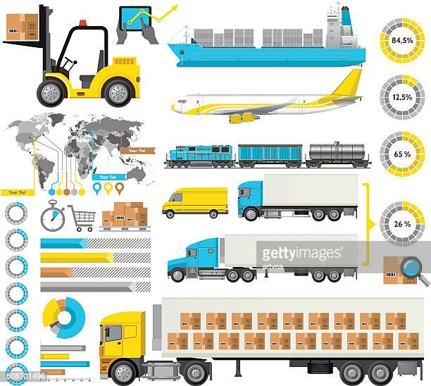 logistic infographic - shipping stock illustrations