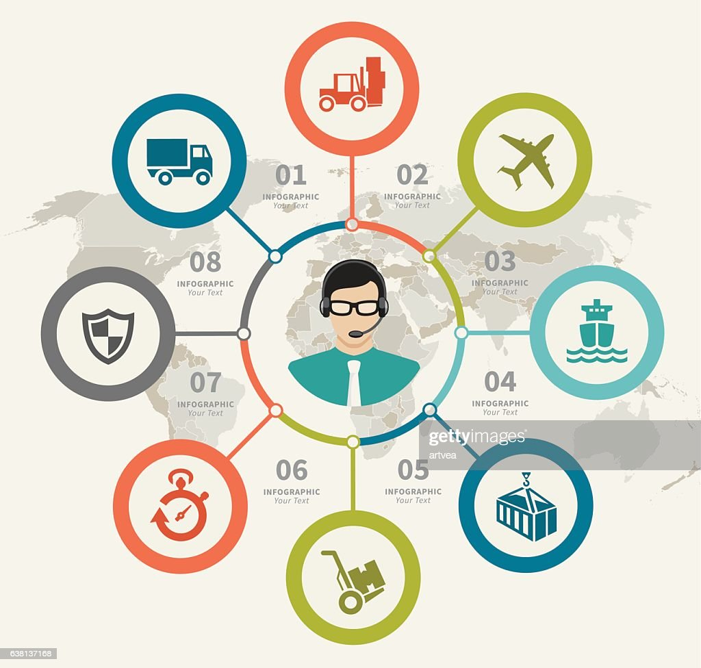 Logistic Support Infographic : stock illustration
