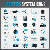 Logistic system vector icon colour