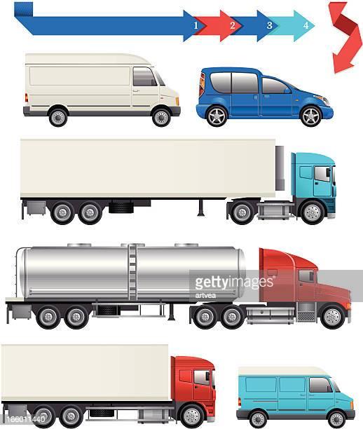 logistic transport - oil tanker stock illustrations, clip art, cartoons, & icons