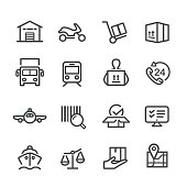 Logistics and Shipping Icons - Line Series