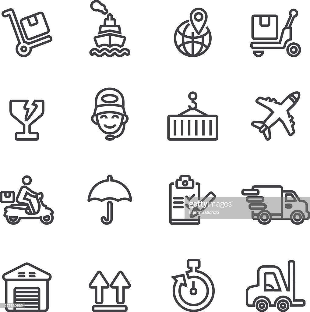 Logistics and Shipping Line icons | EPS10
