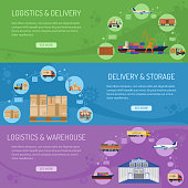 Logistics delivery and storage Banners