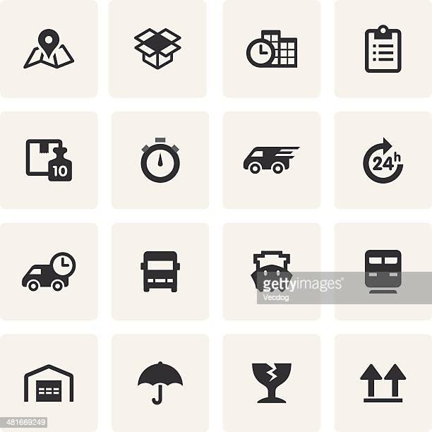 Logistik-Icon-Set (Saro Serie)