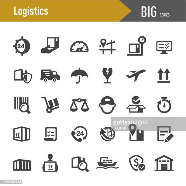 logistics icons - big series - shipping stock illustrations