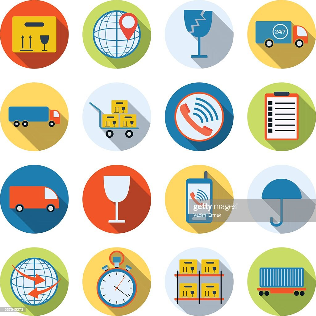Logistics icons collection