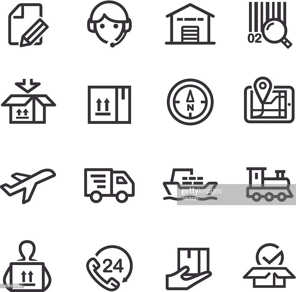 Logistics Icons - Line Series