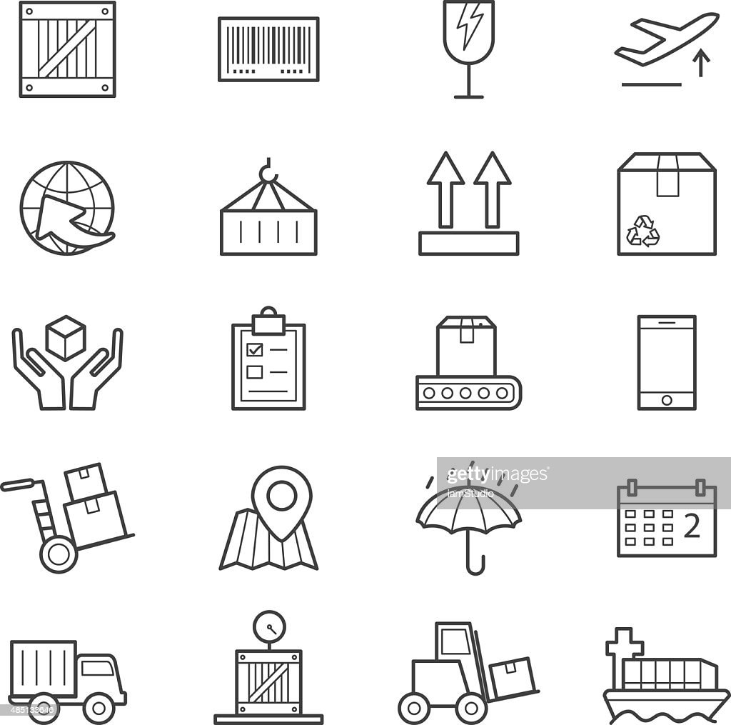 Logistics Icons Line