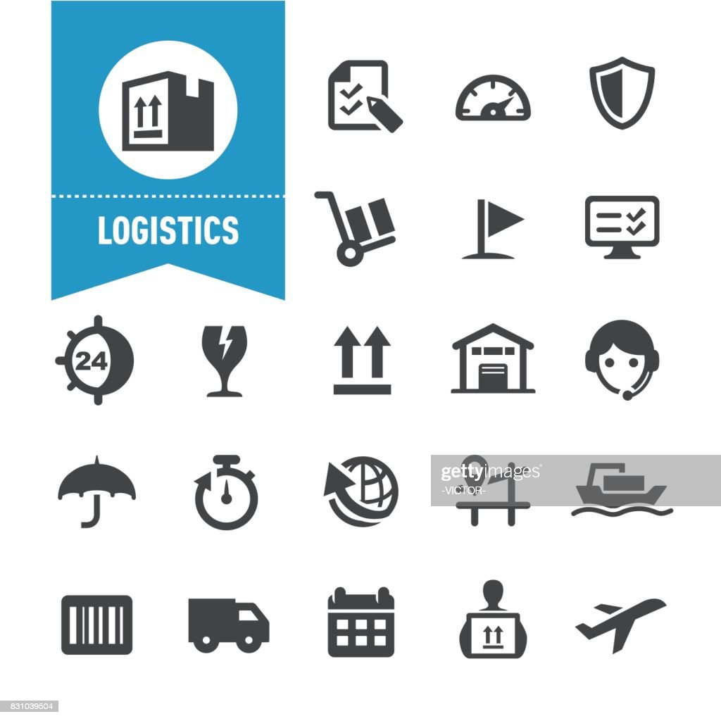 Logistics Icons - Special Series : stock illustration