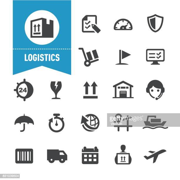 logistics icons - special series - shipping stock illustrations