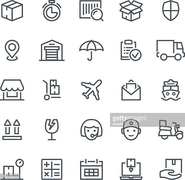 logistics icons - hand truck stock illustrations, clip art, cartoons, & icons