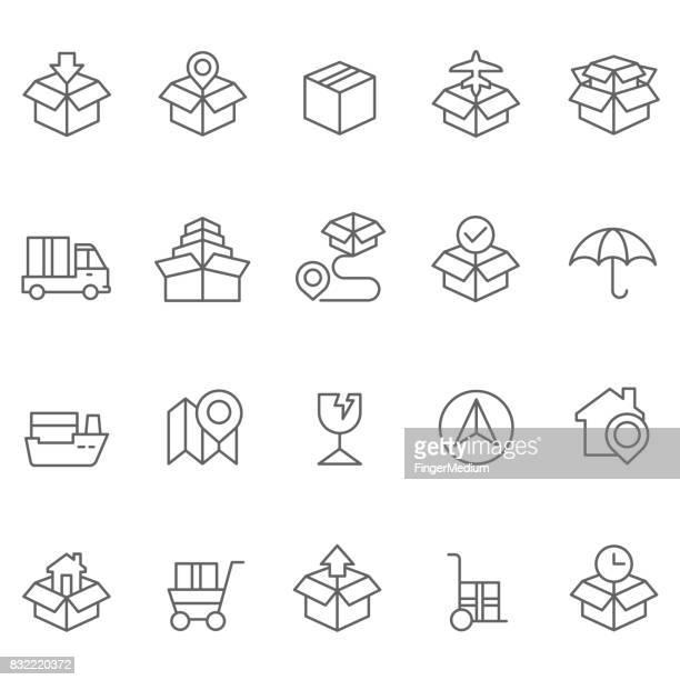 logistics icons - order stock illustrations, clip art, cartoons, & icons