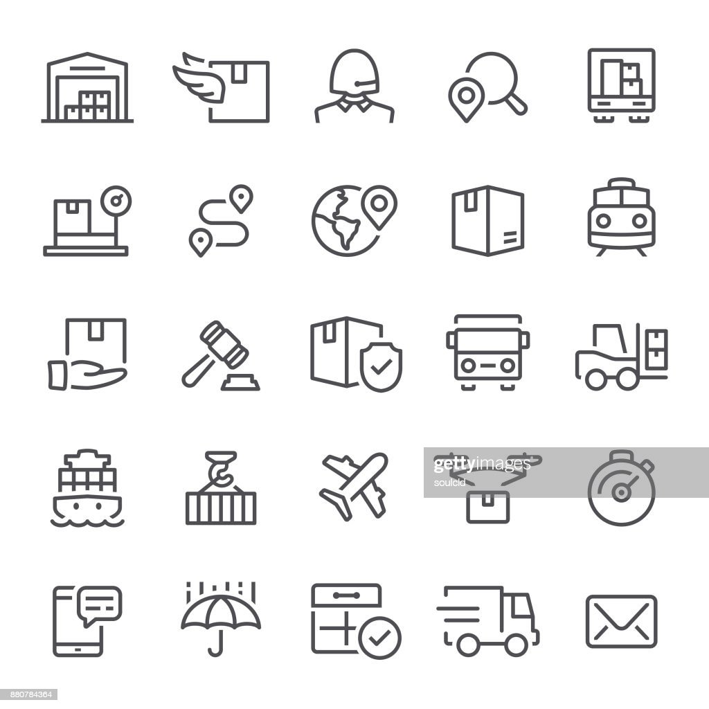Logistics Icons : stock illustration