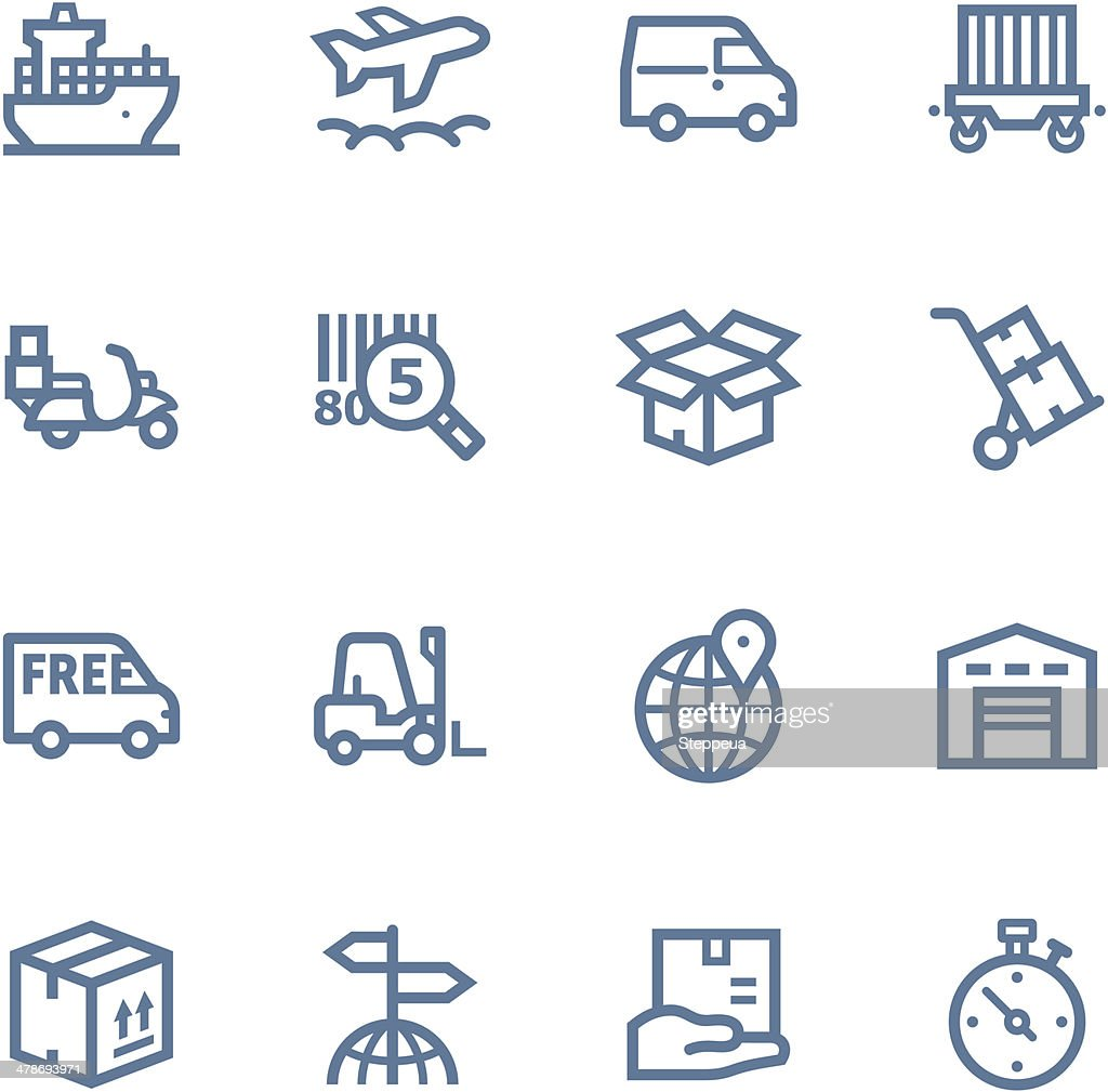 Logistics  line Icons : stock illustration