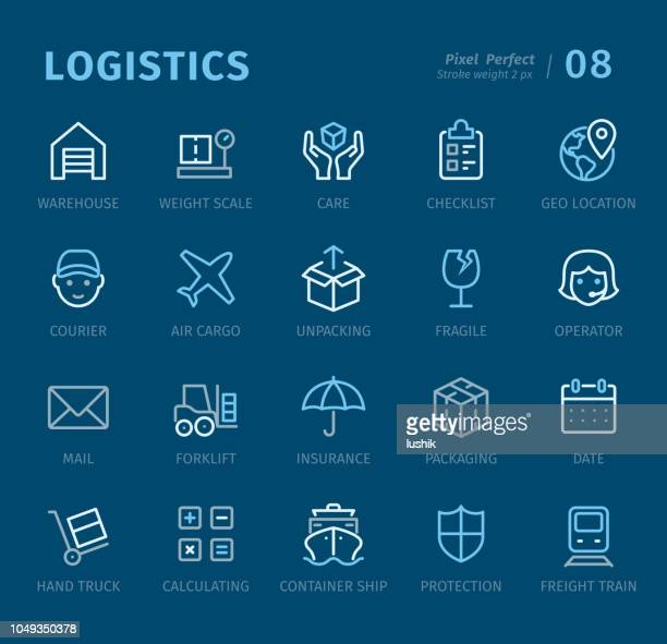 Logistics - Outline icons with captions