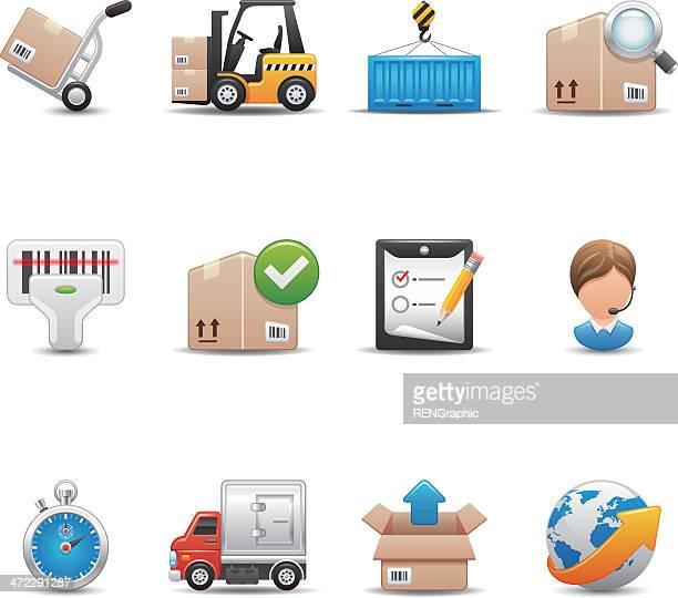 Logistics & Shipping Icon Set | Elegant Series
