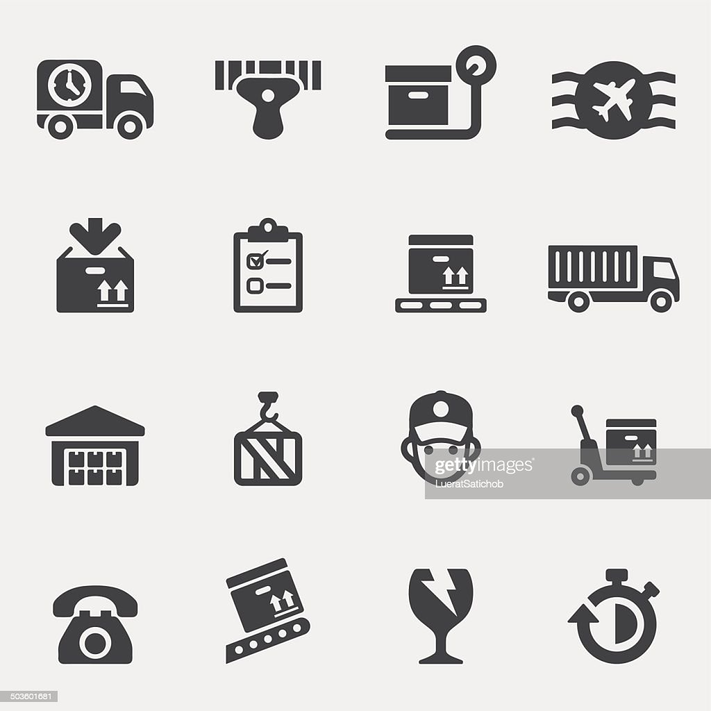 Logistics Silhouette icons | EPS10