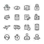 Logistics Workflow Icons - Line Series