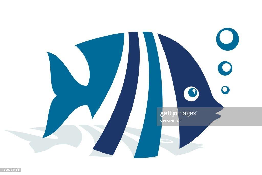 Logo abstract fish.
