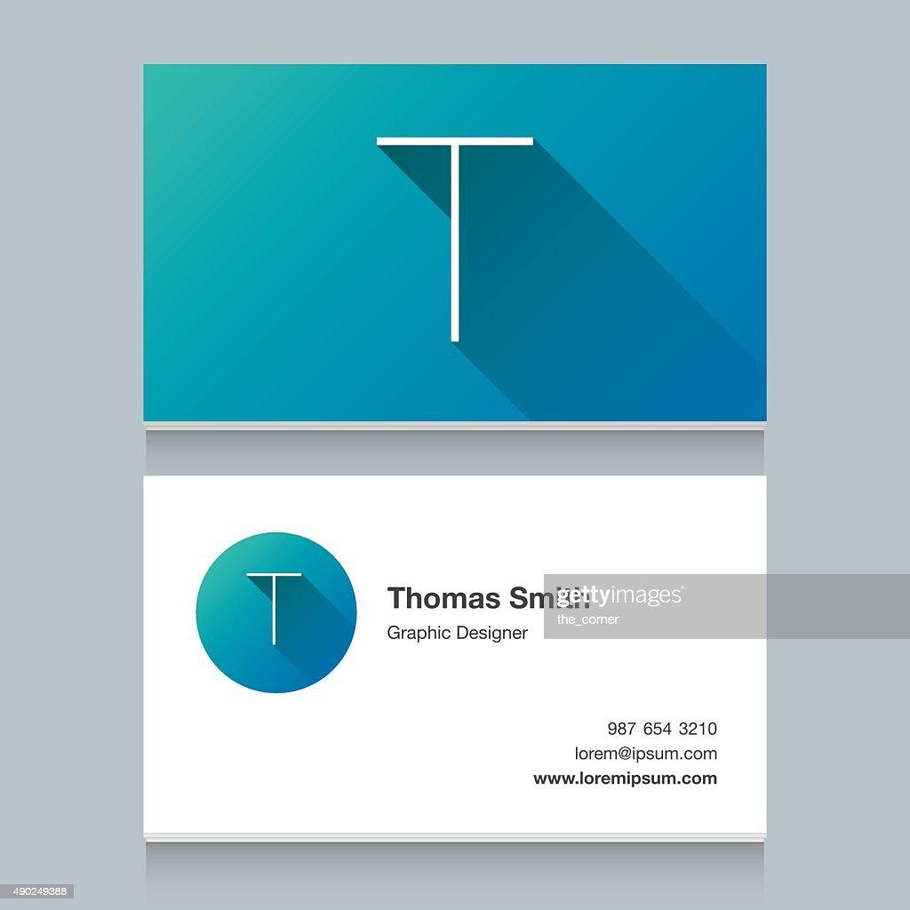 Logo alphabet letter 'T'