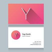 "Logo alphabet letter ""Y"""