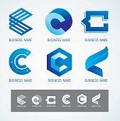 Logo and Symbol design C concept, modern minimal