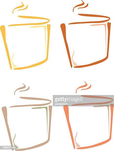 logo: corporate branding - hot drink stock illustrations, clip art, cartoons, & icons