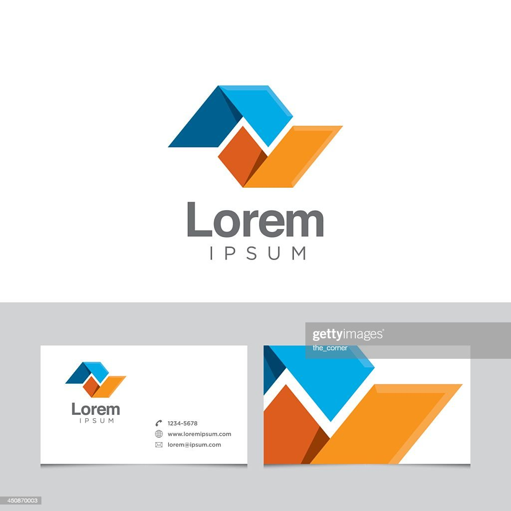Logo design element and business cards model