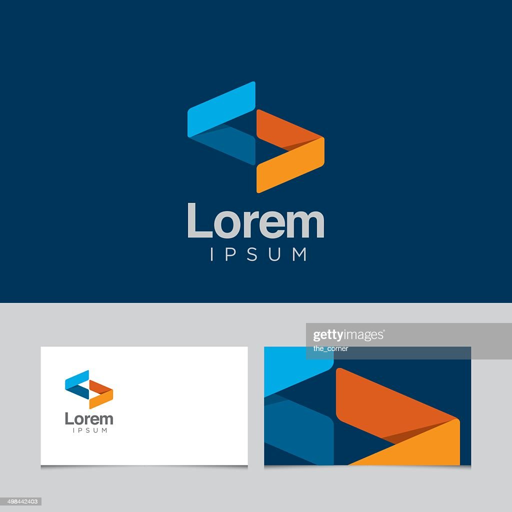 Logo design element with business card template 04