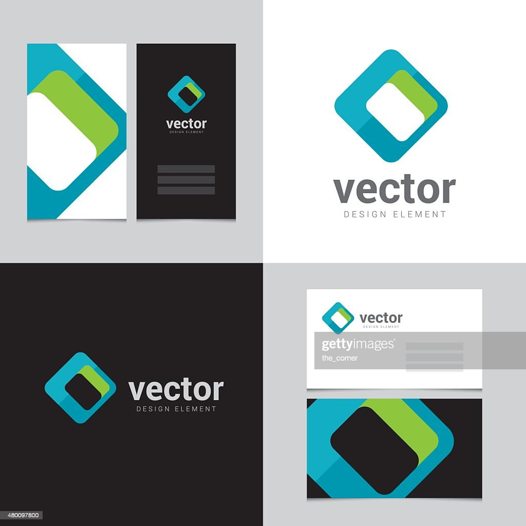 Logo design element with two business cards template - 26