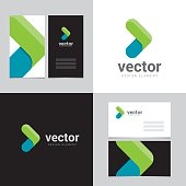 Logo design element with two business cards template - 27