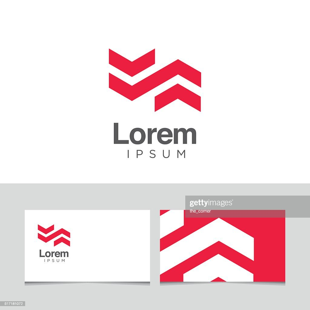 Logo design elements with business card template.