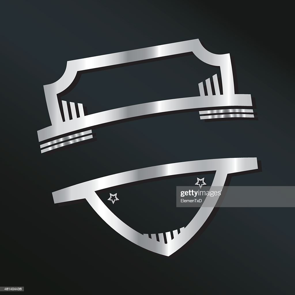 Logo Design Template With Shield Vector Art | Getty Images