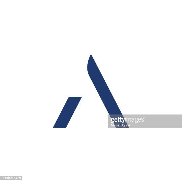 a logo design - letter a stock illustrations