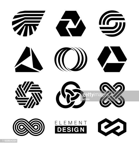 logo elements design - shape stock illustrations