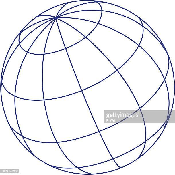 logo elements: globe - latitude stock illustrations