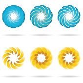 Logo flower icon set. Vector Illustration